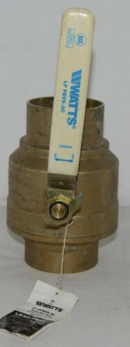 Watts LFFBVS 3C Full Port Brass Ball Valve 3 inch Full Port Sweat 400 WOG