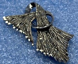 Black hills rare , collectible pin/brooch sterling diamond laser cut ribbon desi - $75.00