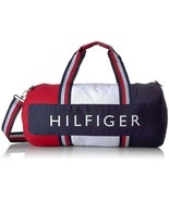 NWT Tommy Hilfiger Classic Canvas Patriot Large Duffel Bag Stripe Navy Red - $45.54