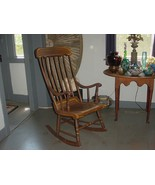 ANTIQUE PAINTED WOODEN BOSTON OR HITCHCOCK ROCKER ROCKING CHAIR - $95.00