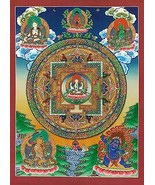 The Great Compassionate One BIG Tibetan Art Mandala Asian Art Print Buddha - $64.33