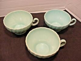 Franciscan Coronado Aqua Matte 3 Cups Flat Blue - $14.85