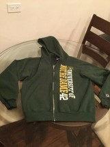Notre Dame Fighting Irish Green Champion Hoodie Sweatshirt Medium Good C... - $9.25