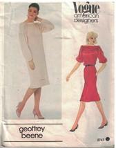 2747 Vogue Patrón de Costura Misses Suelto Ajuste Jersey Recto Vestido B... - $20.02