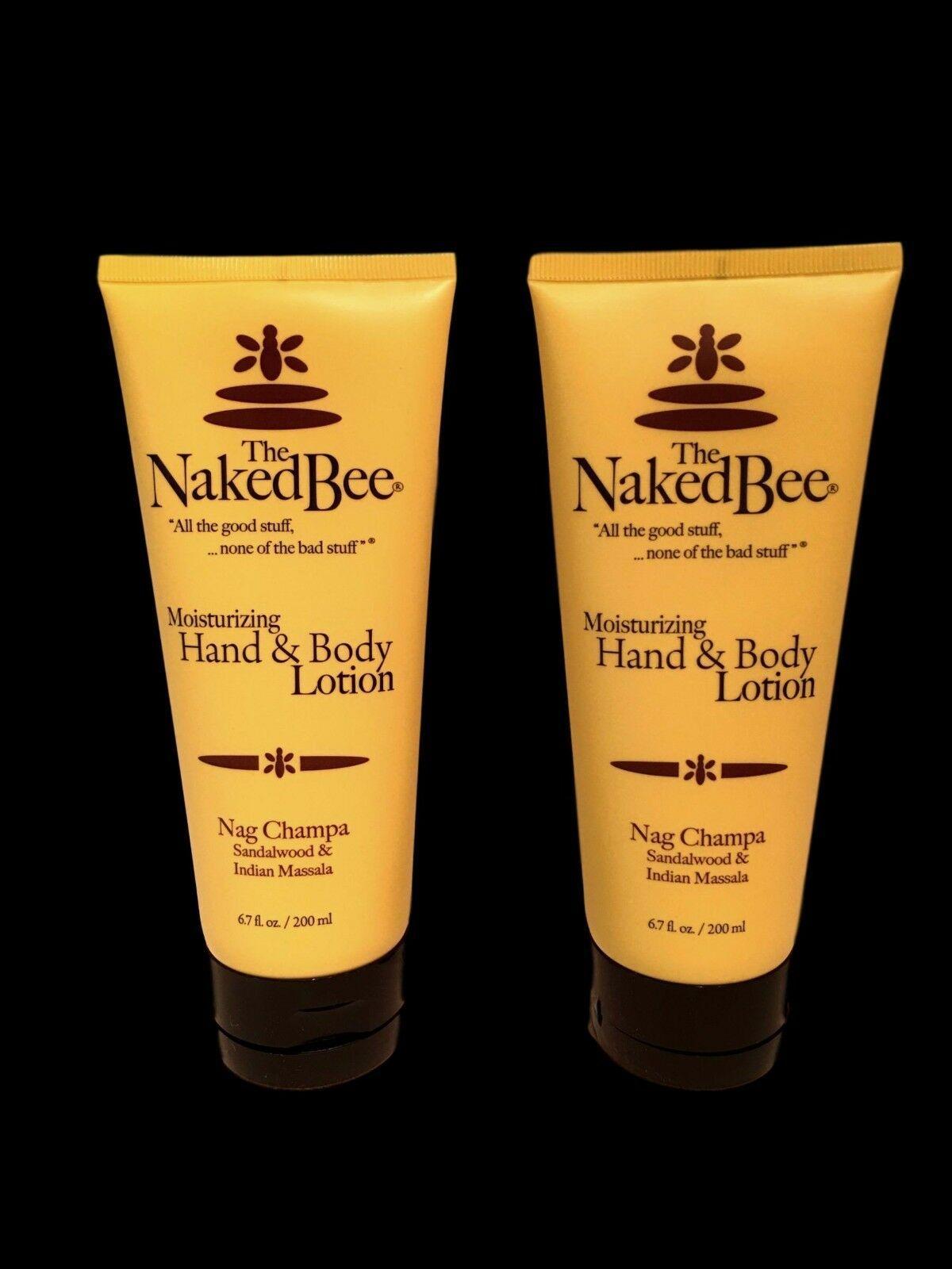 The Naked Bee Nag Champa Hand & Body Lotion 2.25 oz 2 pack Natural Sandalwood