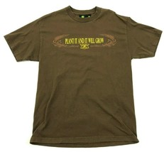 John Deere Shirt Size Large L Brown Green Farmer Tee PLANT IT AND IT WIL... - $17.83