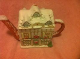 CHRISTMAS PITCHER--VICTORIAN HOUSE--CERAMIC--AMC, NY NY----FREE SHIP--VGC - $46.75