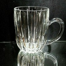 1 (One) Mikasa Park Lane Cut Lead Crystal Mug Discontinued - $28.42