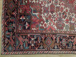 Normal Wear Semi-Antique Persian Handmade 9x12 Burgundy Heriz Wool Rug image 7