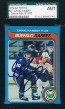 1979-80 Topps #207 Craig Ramsay Sabres JSA Auto - $19.75