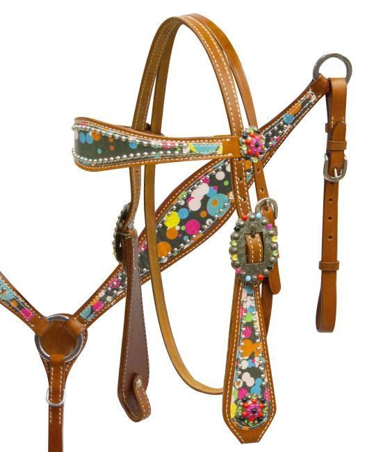 Unicorn Pony 4pc Leather Tack Set Wither Strap Bling Halter fits Pony