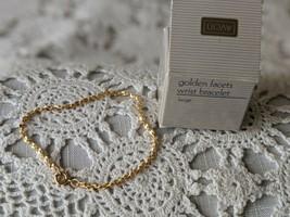 Avon Designer Signed Golden Hearts Ankle Bracelet  - $8.72