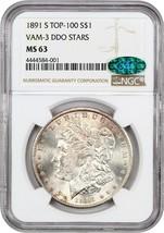 1891-S $1 NGC/CAC MS63 (VAM-3 DDO Stars) - Morgan Silver Dollar - $552.90
