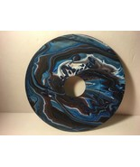 """7"""" Vinyl Music Record Wall Art - Fluid Acrylic Flowing Poured Paint 004 - $14.20"""