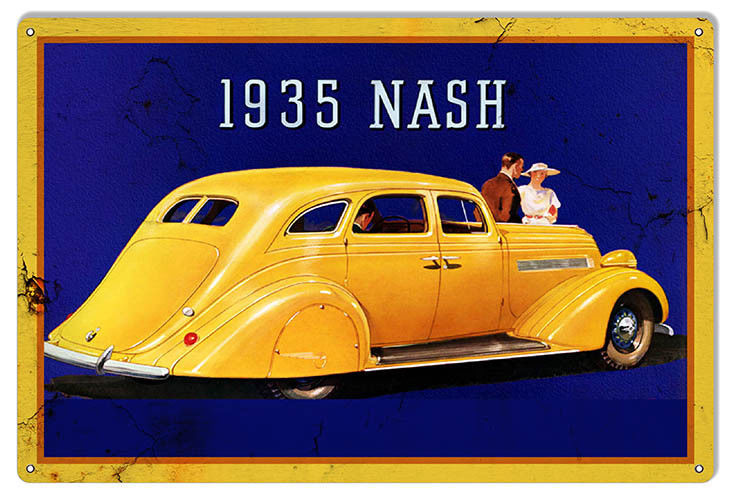 Nash Healey 1935 Series Reproduction Garage Shop Metal Sign 12x18 - $25.74