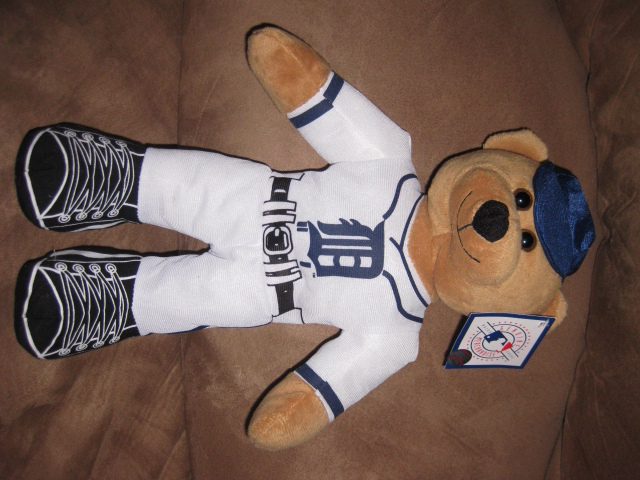 "DETROIT TIGERS BEAR MLB Baeball Wearing Uniform Brand New NWT Stuffed w Tags 14"" - $7.99"