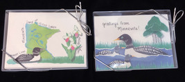 Minnesota Blank Greeting Cards Set Loons Lady Slipper 10000 Lakes 2 Pack... - $8.90