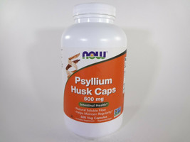 NOW Psyllium Husk Caps 500 mg Intestinal Health 500 Veg Capsules [VS-N] - $21.51