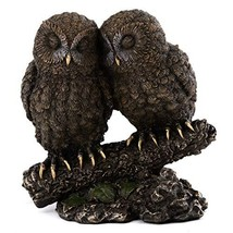 Top Collection Owl Lovers Statue on Tree Branch - Sleeping Great Horned ... - $46.17