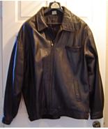 Vintage Men's Black Leather Coat  Size XXL - $49.99