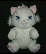 "9"" DISNEY BABIES PARKS MARIE ARISTOCATS WHITE KITTY CAT STUFFED ANIMAL P... - $15.90"