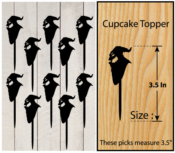 Ca427 Decorations cupcake toppers nightmare before christmas Package : 10 pcs