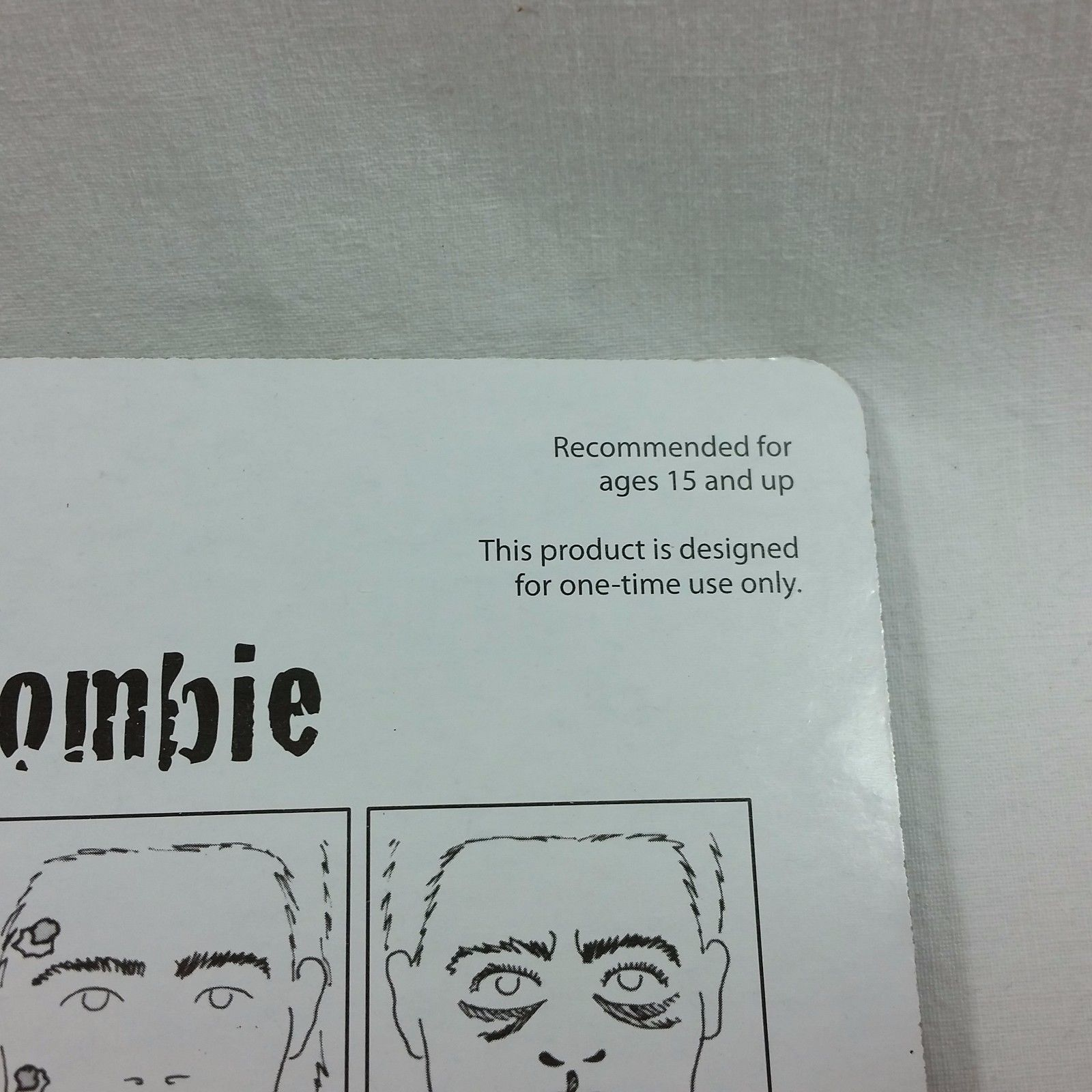 Zombie Liquid Makeup Kit Blood Teeth Easy Costume Halloween Face Painting Party