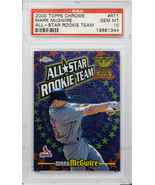 2000 TOPPS CHROMS MARK MCGWIRE ALL-STAR ROOKIE TEAM #RT1 PSA GEM MINT 10... - $197.99