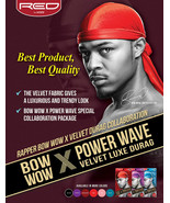 Red by Kiss Bow Wow Power Wave Velvet Luxe Durag Men's Hat Doo Rag Tail ... - $7.95