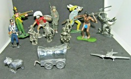 Junk Drawer Assorted Metal Toy Soldiers & Other Metal Pieces Asst. Disco... - $27.72