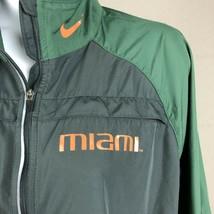 Nike Women's Miami Hurricanes Wind Breaker Jacket Size L Multicolor RW3 - $17.81