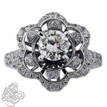 2.42CT Vintage Style VS Diamond Engagement Ring 14K White Gold  - $6,434.01
