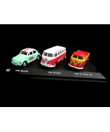 Coca-Cola Volkswagon Gift Set 1:72 VW Beetle VW Samba and VW T1 Pickup B... - $25.25