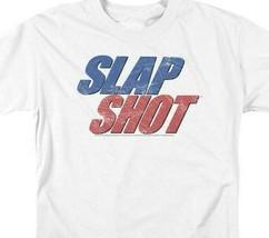 Slap Shot Retro 70s American sports comedy film distressed graphic tee UNI960 image 2