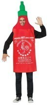 Sriracha Adult Costume Hot Chili Sauce Tunic Red Food Halloween Unique G... - €48,83 EUR