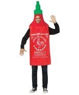 Sriracha Adult Costume Hot Chili Sauce Tunic Red Food Halloween Unique G... - $1.114,80 MXN