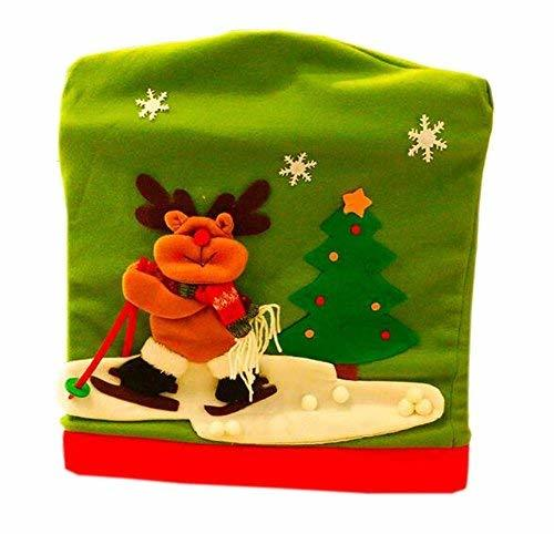 PANDA SUPERSTORE Christmas Chair Cover Creative Christmas Chair Sets Decor, Elk
