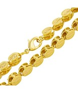Ethlyn Jewelry 60cm/ 8mm Ethiopian/Eritrean Jewelry 18K Gold Plated Hand... - $18.06