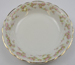 Vintage Homer Laughlin China Hudson Pink Floral Pattern Soup Bowl Tableware - $26.99