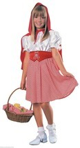 LITTLE RED RIDING HOOD CAPE HALLOWEEN KIDS COSTUME CHILD SIZE SMALL 4-6 - $16.72