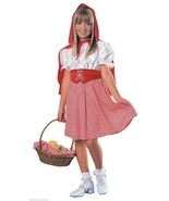 LITTLE RED RIDING HOOD CAPE HALLOWEEN KIDS COSTUME CHILD SIZE SMALL 4-6 - £12.11 GBP