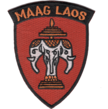 """3.5"""" MILITARY ASSISTANCE ADVISORY GROUP LAOS EMBROIDERED PATCH - $17.09"""