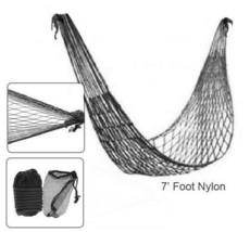 Tragbar Hängematte Draußen Reisen Camping Garten Nylon Aufhängen Gitternetz - $8.94