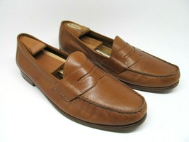 Cole Haan Ascot Mens Brown Leather Moc Toe Penny Loafers Size US 13 M - $57.23