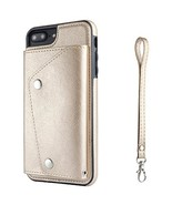 Apple Phone 7 Plus PU Leather Phone Case Wallet Smart Cover with Card Ho... - $20.08