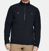 Under Armou Black Sherpa Jacket Coldgear Quilted 1/2 Zip XL 1343261 Men'... - $78.30
