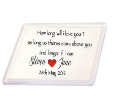 Personalised How Long Song You Names Coaster Valentines Birthday Day  - $5.10