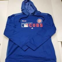 NWOT Chicago Cubs MLB Baseball Men's Majestic Blue Hoodie Sweatshirt Lar... - $21.03