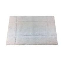 BORDERED WHITE 1600GSM MICROFIBRE ANTI-SLIP BATH MAT 50 X 80CM - $26.11