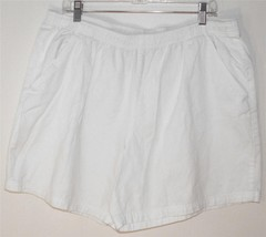 WHITE STAGG WOMEN'S/MISSES SIZE XXL (20) ARCTIC WHITE SHORTS PULL ON STYLE - $13.99